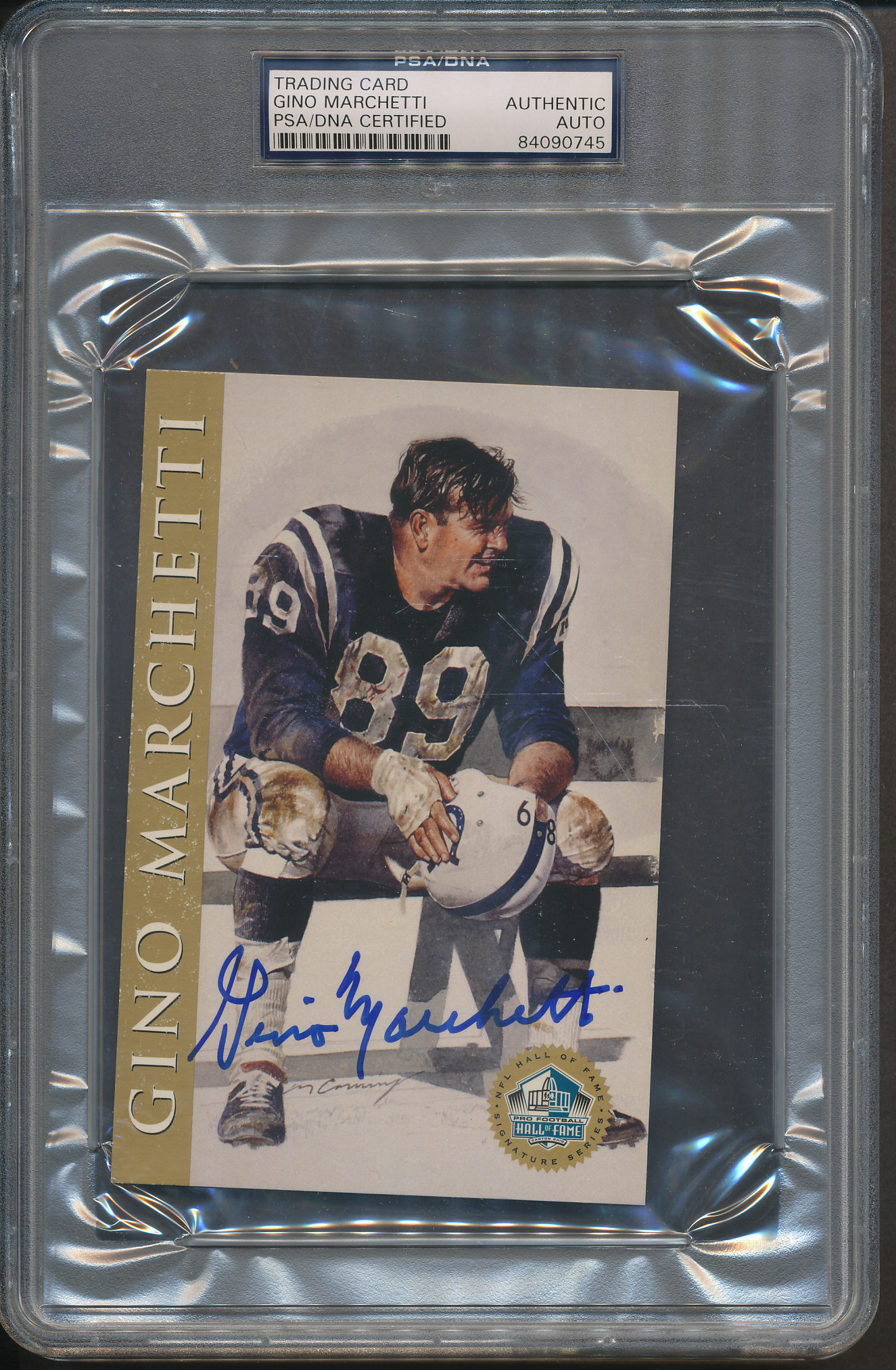 Details About Gino Marchetti Signed Trading Card Psadna Certified Authentic Auto 0745