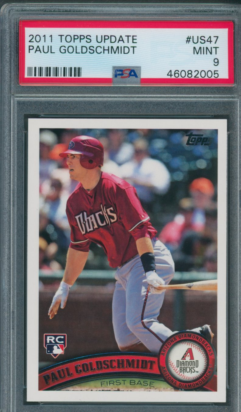 2011 bowman chrome prospects #bdp99 PAUL GOLDSCHMIDT diamondbacks rookie PSA 9