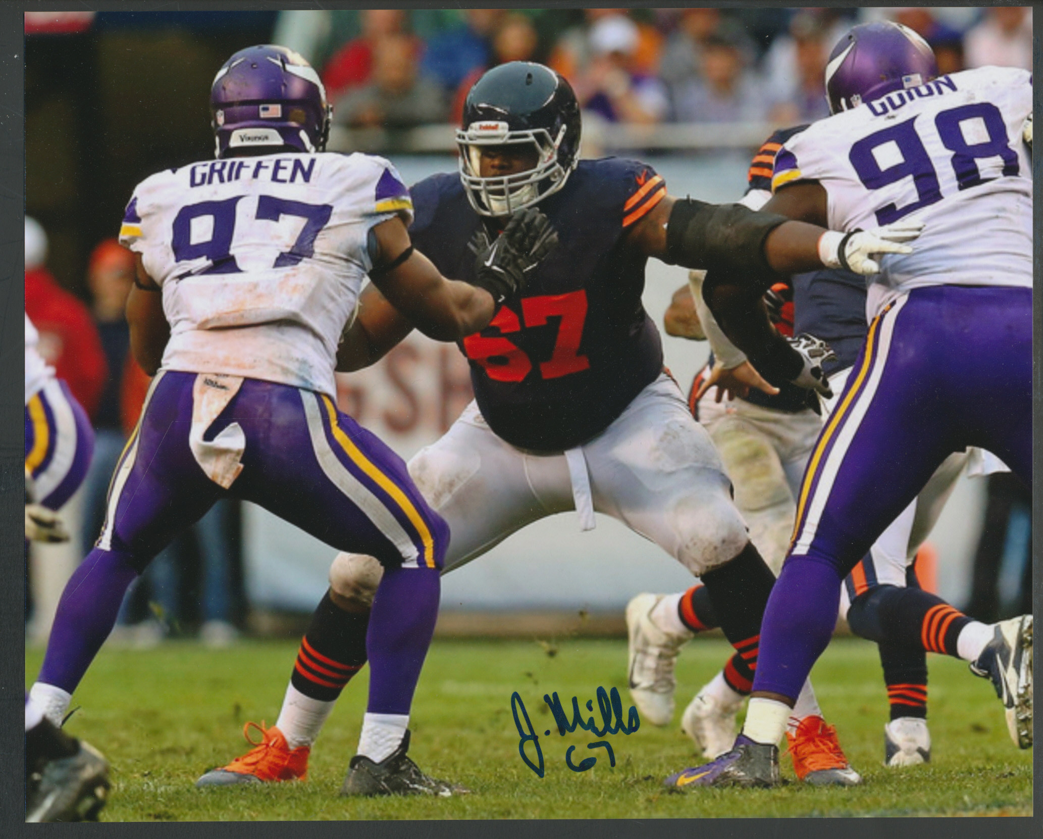 Details About Jordan Mills Signed 8x10 Photo Bbce Baseball Card Exchange Auto Chicago Bears
