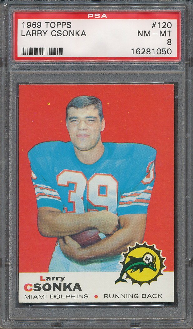 Details About 1969 Topps 120 Larry Csonka Psa Nm Mt 8 1050