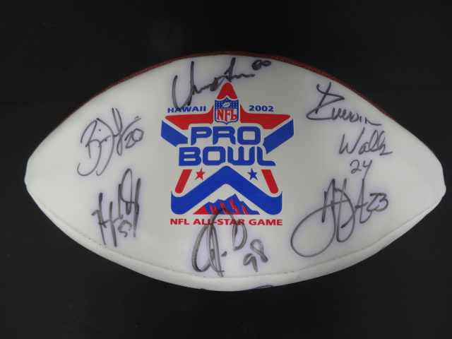 Details about (15) 2002 NFL Experience Signed Signed Pro Bowl White Panel  Football Auto BBCE
