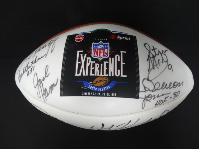 Details about (12) 1999 NFL Experience Multi-Signed SB XXXIII White Panel  Football Auto BBCE