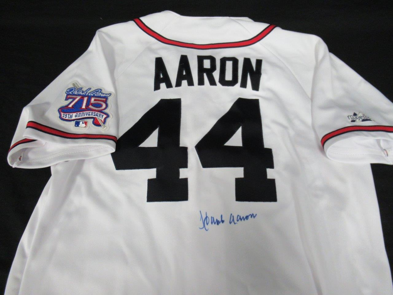 the latest 95db4 31886 Details about Hank Aaron Signed Majestic Authentic Braves Jersey Auto  PSA/DNA AF30113